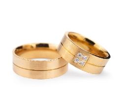 "Golden wedding rings with diamonds ""VMA 130"""