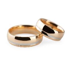 """Auksiniai vestuviniai žiedai """"VK127"""""""