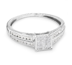 """Sužadėtuvių žiedas su Deimantais """"Princesės 6"""""""