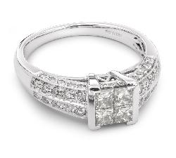 """Auksinis žiedas su Deimantais """"Princesės 6"""" en"""