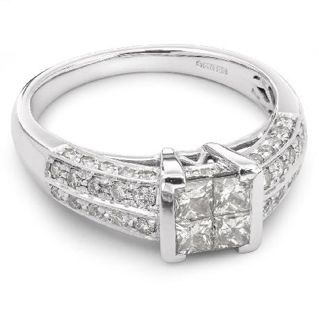 """Auksinis žiedas su Deimantais """"Princesės 6"""" fi"""