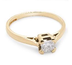 """Sužadėtuvių žiedas su Deimantu """"Princesė 7"""""""