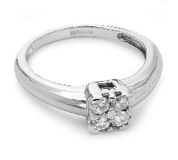 """Sužadėtuvių žiedas su Briliantu """"Briliantinė Gėlė 8"""""""