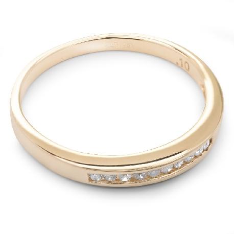 "Kultasormukset briljanteilla ""Diamond ribbon 16"""
