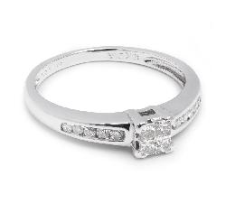 """Sužadėtuvių žiedas su Deimantais """"Princesės 15"""""""