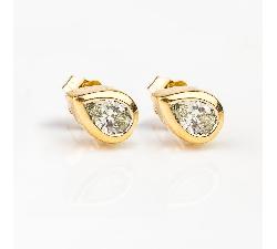 """Auksiniai auskarai su Deimantais """"Klasika"""""""