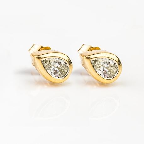 """Kultaiset korvakorut timanteilla """"Klassikot 44"""""""