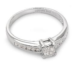 """Sužadėtuvių žiedas su Deimantais """"Princesės 21"""""""