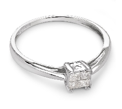 """Sužadėtuvių žiedas su Deimantais """"Princesės 25"""""""