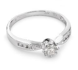 """Auksinis žiedas su Deimantais """"Grakštumas 38"""""""
