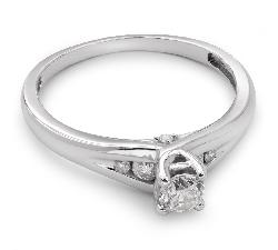 """Sužadėtuvių žiedas su Briliantais """"Susipynę Likimai 15"""""""