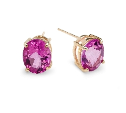 """Gold earrings with gemstones """"Colors 22"""""""