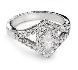 """Kultasormukset timanteilla """"Crown 10"""""""