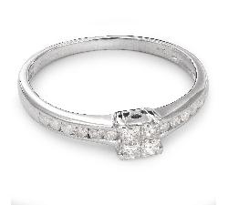"""Sužadėtuvių žiedas su Deimantais """"Princesės 30"""""""