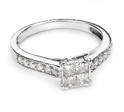 """Sužadėtuvių žiedas su Deimantais """"Princesės 33"""""""