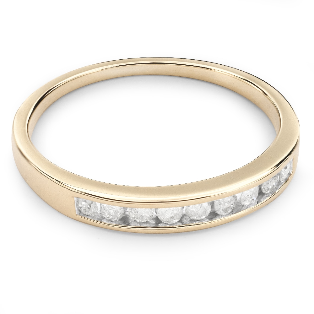 "Kultasormukset briljanteilla ""Diamond ribbon 19"""