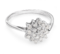 """Auksinis žiedas su Briliantais """"Briliantinė Gėlė 21"""""""
