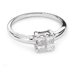 """Sužadėtuvių žiedas su Deimantais """"Princesės 37"""""""