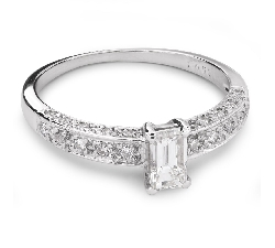 """Sužadėtuvių žiedas su Deimantais """"Karūna 16"""""""