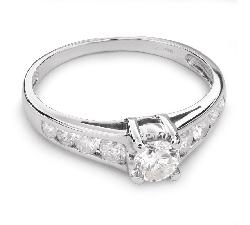 """Sužadėtuvių žiedas su Briliantais """"Grakštumas 68"""""""