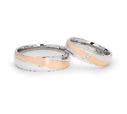 "Golden wedding rings with diamonds ""VKA 099"""