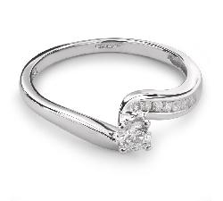 """Sužadėtuvių žiedas su Briliantais """"Viesulas 12"""""""