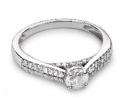 """Sužadėtuvių žiedas su Briliantais """"Grakštumas 69"""""""