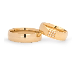"""Auksiniai vestuviniai žiedai su Briliantais """"VKA139"""""""