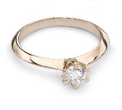 """Sužadėtuvių žiedas su Briliantu """"Karalaitė 20"""""""