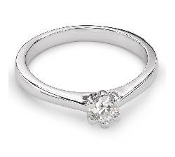 """Engagement ring with diamond """"The queen 69"""""""