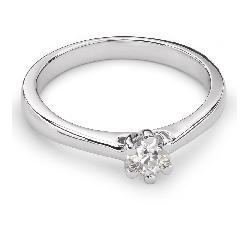 """Sužadėtuvių žiedas su Briliantu """"Širdies Karalienė 21"""""""