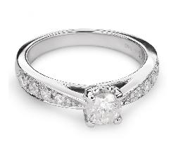 """Auksinis žiedas su Briliantais """"Grakštumas 81"""""""