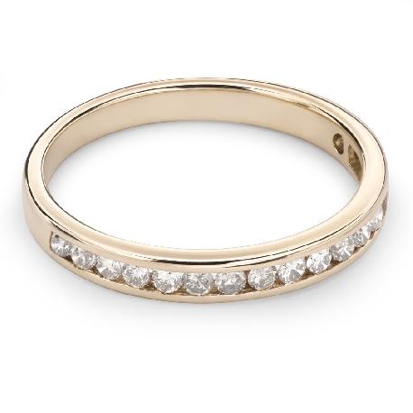 "Kultasormukset briljanteilla ""Diamond ribbon 34"""