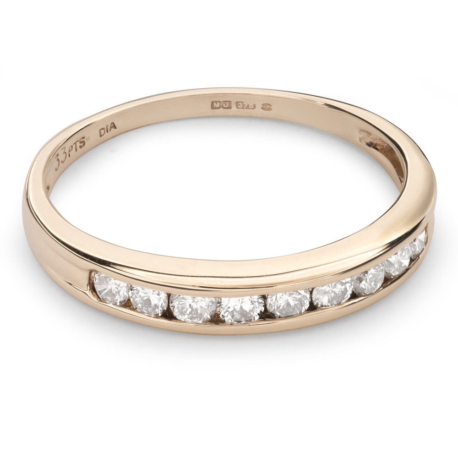 "Kultasormukset briljanteilla ""Diamond ribbon 38"""
