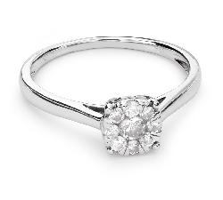 """Sužadėtuvių žiedas su Briliantais """"Briliantinė Gėlė 29"""""""