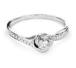 """Sužadėtuvių žiedas su Briliantais """"Viesulas 19"""""""