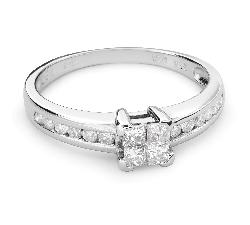 """Sužadėtuvių žiedas su Deimantais """"Princesės 44"""""""