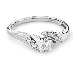 """Auksinis žiedas su Briliantais """"Gyvybe 27"""""""