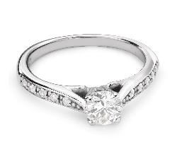 """Sužadėtuvių žiedas su Briliantais """"Grakštumas 101"""""""