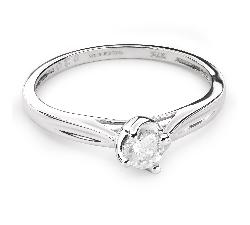 """Sužadėtuvių žiedas su Briliantu """"Meilės glėbyje 35"""""""