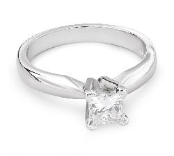 """Sužadėtuvių žiedas su Deimantu """"Princesė 62"""""""