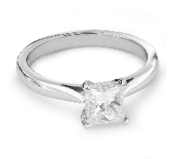 """Sužadėtuvių žiedas su Deimantu """"Princesė 63"""""""
