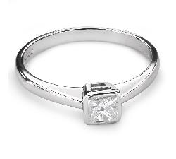 """Sužadėtuvių žiedas su Deimantu """"Princesė 65"""""""