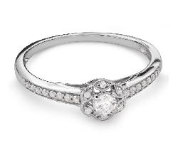 """Sužadėtuvių žiedas su Briliantais """"Briliantų Puokštė 47"""""""