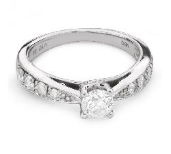 """Sužadėtuvių žiedas su Briliantais """"Grakštumas 109"""""""