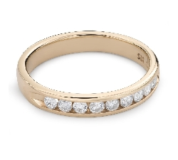 "Kultasormukset briljanteilla ""Diamond ribbon 50"""