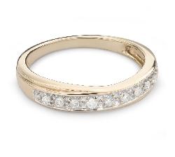 "Kultasormukset briljanteilla ""Diamond ribbon 52"""