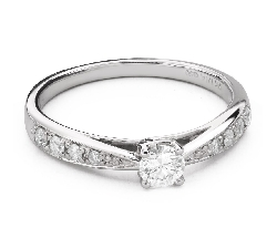 """Engagment ring with brilliants """"Grace 115"""""""