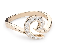 "Kultasormukset timanteilla ""Life 32"""