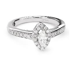 """Kultasormukset timanteilla """"Crown 21"""""""